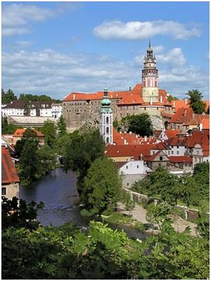 Die südböhmische Stadt Krumau